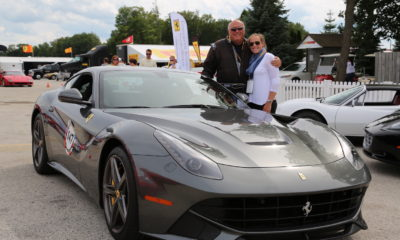 Tim Roberts with Daughter Chloe and Ferrari F12