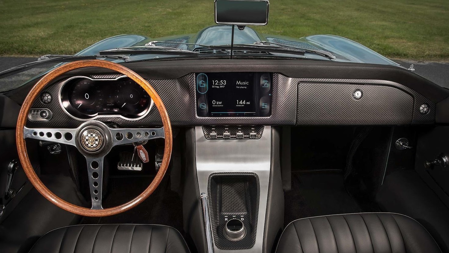 Electric Jaguar Cockpit
